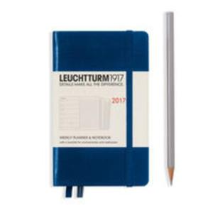 Kalendarz tygodniowy z notatnikiem 2017 Pocket morski Leuchtturm1917 - 2840815863