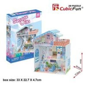 Puzzle 3D Seaside Villa Domek dla lalek - 2857804210