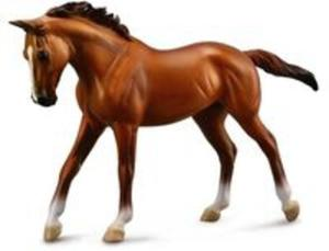 Klacz rasy arabskiej Chestnut Koń figurka - 2857804812