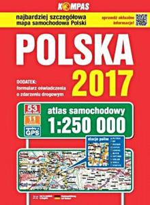 Atlas samochodowy Polska 2017 1:250 000 - 2853646337