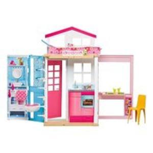 Barbie dwupoziomowy domek + lalka - 2846345467