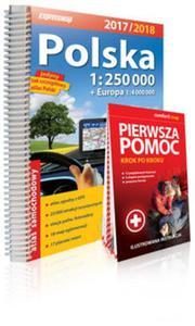 Atlas samochodowy. Polska 1:250 000 + Pierwsza pomoc - 2846345723