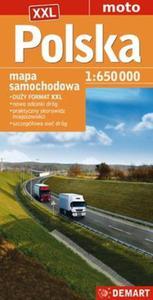Polska mapa samochodowa 1:650 000 - 2857813076