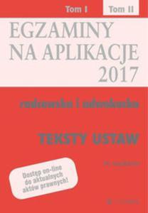 Egzaminy Aplikacje radcowska i adwokacka Tom 2 teksty - 2851133839