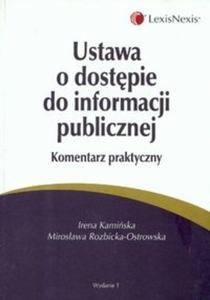 Ustawa o dostępie do informacji publicznej komentarz praktyczny