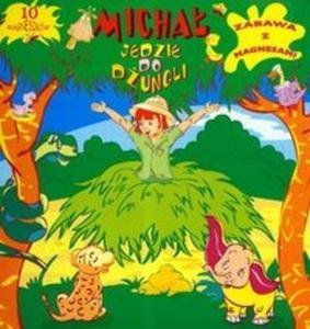 Michał jedzie do dżungli zabawa z magnesami - 2825667473