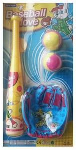 Kij baseballowy 41cm + rękawica + 2 piłeczki