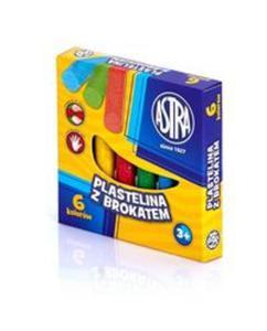 Plastelina z brokatem 6 kolorów - 2857835178