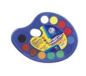 Farby akwarelowe 12 kolorów paleta - 2857838346