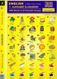 Angielski Dobierz do pary 1 Alphabet & Colours - 2825671658