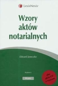 Wzory aktów notarialnych z płytą CD - 2825678895