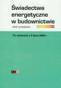 Świadectwa energetyczne w budownictwie - 2825681029