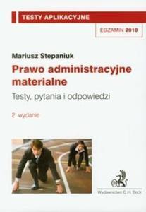 Prawo administracyjne materialne Testy aplikacyjne 9