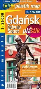 Gdansk, Gdynia, Sopot plastik - plan miasta laminowany - 2825700152