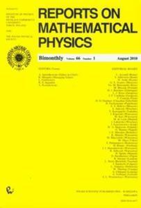 Reports on Mathematical Physics 66/1 - 2825703064