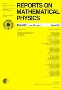 Reports on Mathematical Physics 66/1 - 2825703065