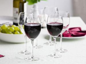 Kieliszki do wina czerwonego z grawerem - 2859204503