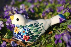 Figurka ptaszek / ceramika artystyczna - 2859207399