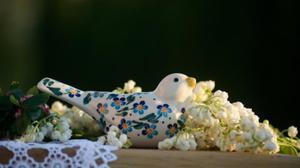 Figurka ptaszek / ceramika artystyczna Beata Wo - 2859207492