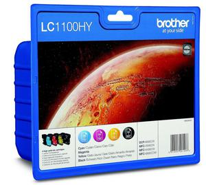 Brother 4 x tusz CMYK LC-1100HYVALBP, LC1100HYVALBP - 2824980213