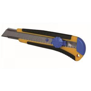 Dedra Nóż 18 mm ostrze 1 + 1 zapas do papieru i kartonu, poktrętło, uchwyt gumowy. M9016 - 2835889359