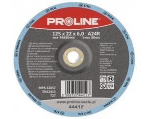 PROLINE Tarcza do szlifowania metalu, wypukła Rozmiar 125x6.0 mm - 44412 - 2829408548