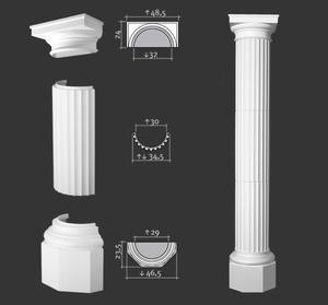 Półkolumna segmentowa, sztukateria Orac Decor, kolekcja Orac Luxxus - 3x K4001 + K4131 + K4121 - 2411677960