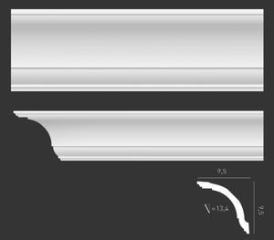 Listwa gzymsowa gładka,sztukateriaOrac Decor, kolekcja Orac Axxent - CX127 - 2411678061
