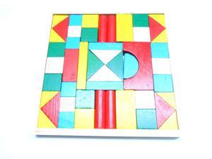 PUZZLE / KLOCKI DREWNIANE Z PODSTAWKĄ Klocki drewniane puzzle z podstawką - 2878988808
