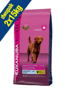 EUKANUBA ADULT LARGE BREED WEIGHT CONTROL 2x15 kg - 2855963590