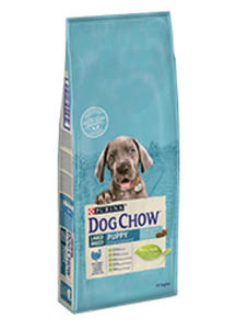 DOG CHOW PUPPY LARGE BREED Z INDYKIEM 14 kg - 2825196090