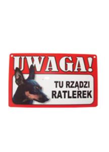 TABLICZKA OSTRZEGAWCZA TU RZĄDZI RATLEREK - 2825196179