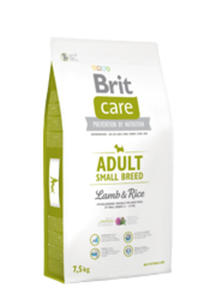 BRIT CARE ADULT SMALL BREED LAMB & RICE 7,5 kg - 2842674564