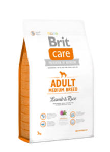 BRIT CARE ADULT MEDIUM BREED LAMB & RICE 3 kg - 2856348168