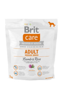 BRIT CARE ADULT MEDIUM BREED LAMB & RICE 1 kg - 2853745852