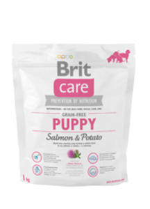 BRIT CARE GRAIN FREE PUPPY SALMON & POTATO 1 kg - 2850368716