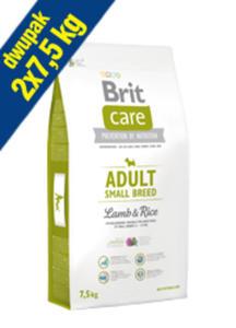 BRIT CARE ADULT SMALL BREED LAMB & RICE 2x7,5 kg - 2857460367