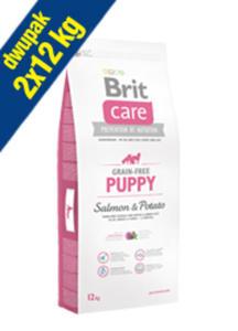 BRIT CARE GRAIN FREE PUPPY SALMON & POTATO 2x12 kg - 2849240411