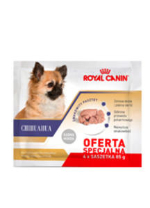 ROYAL CANIN BREED CHIHUAHUA MOKRA KARMA DLA DOROSŁYCH CHIHUAHUA 4x85 g - 2844529330
