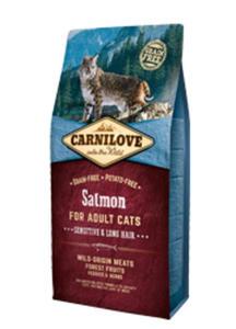 BRIT CARNILOVE CAT SENSITIVE LONG HAIR ŁOSOŚ KARMA DLA KOTA 2 kg - 2852427633