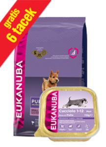 EUKANUBA PUPPY SMALL BREED 7,5kg +6 tacek - 2856565555