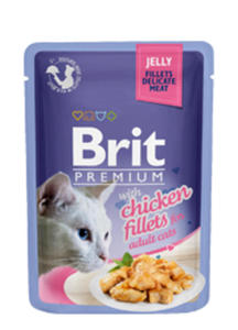 BRIT PREMIUM CAT KARMA DLA KOTA - z kurczakiem w galaretce 12x85g - 2858001364