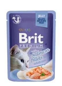 BRIT PREMIUM CAT KARMA DLA KOTA - z łososiem w galaretce 12x85g - 2858001367