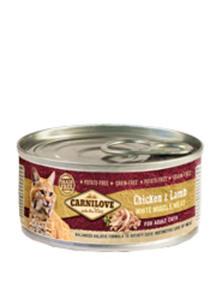 BRIT CARNILOVE CAT MOKRA KARMA DLA KOTA - z kurczakiem i jagnięciną 12x100 g - 2858001390