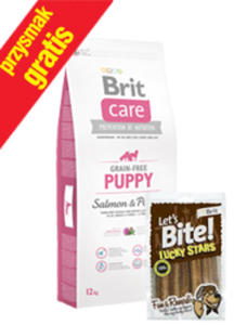 BRIT CARE GRAIN FREE PUPPY SALMON & POTATO 12 kg +przysmak - 2858402469
