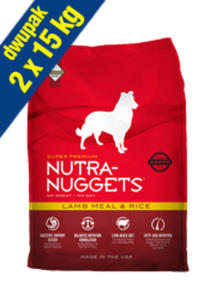 NUTRA NUGGETS ADULT LAMB & RICE 2x15 kg - 2848032817