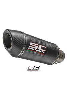 Tłumik uniwersalny owalny Racing SC-Project (Średnica wlotowa 60 mm) - 2858363255