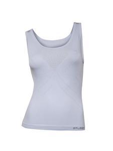 Koszulka damska wąskie ramiączka Aerate BRUBECK - JASNOSZARY - 2858362832