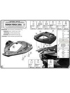 Stelaż Givi pod kufer centralny Monolock do HONDA Forza 250 X / EX (08 >12) - 2832669374