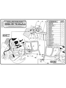 Osłona silnika do Hondy Africa Twin 750 (93 > 02) - 2832663429